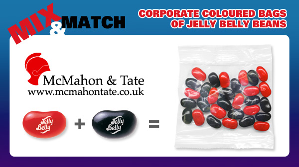 Mix and Match Corporate Coloured Bags of Jelly Belly Beans